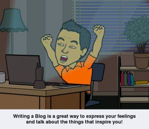 Writing a Blog is a great way to express your feelings and talk about the things that inspire you! Bitstrips