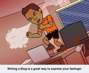 Writing a Blog is a great way to express your feelings! Bitstrips