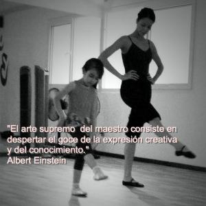 """""""El arte supremo del maestro consiste en despertar el goce de la expresión creativa y del conocimiento"""" – Albert Einstein"""