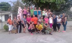 Al final del evento de Zumba en Tapachula