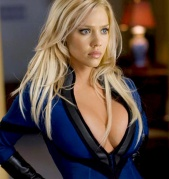 Jessica Alba, the previous Invisible Woman, had lots of gags to show her fantastic two.