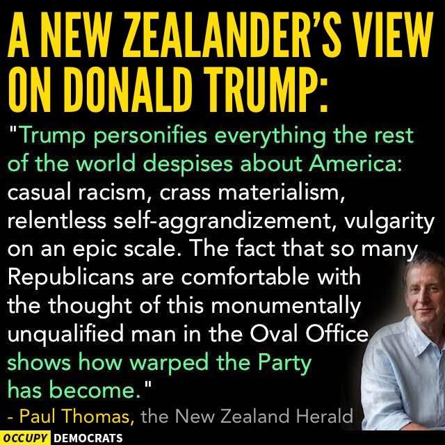 New Zealander on Donald Trump