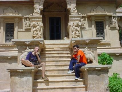 Maciej and Israel Meditating in Palitana