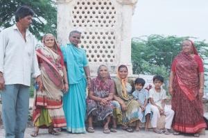 Indian tourists in Palitana