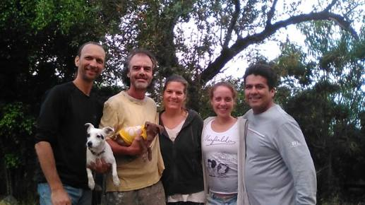 Sequoia, Raphael, Jelayan, Kathleen and Israel at Soulfullheart Sanctuary