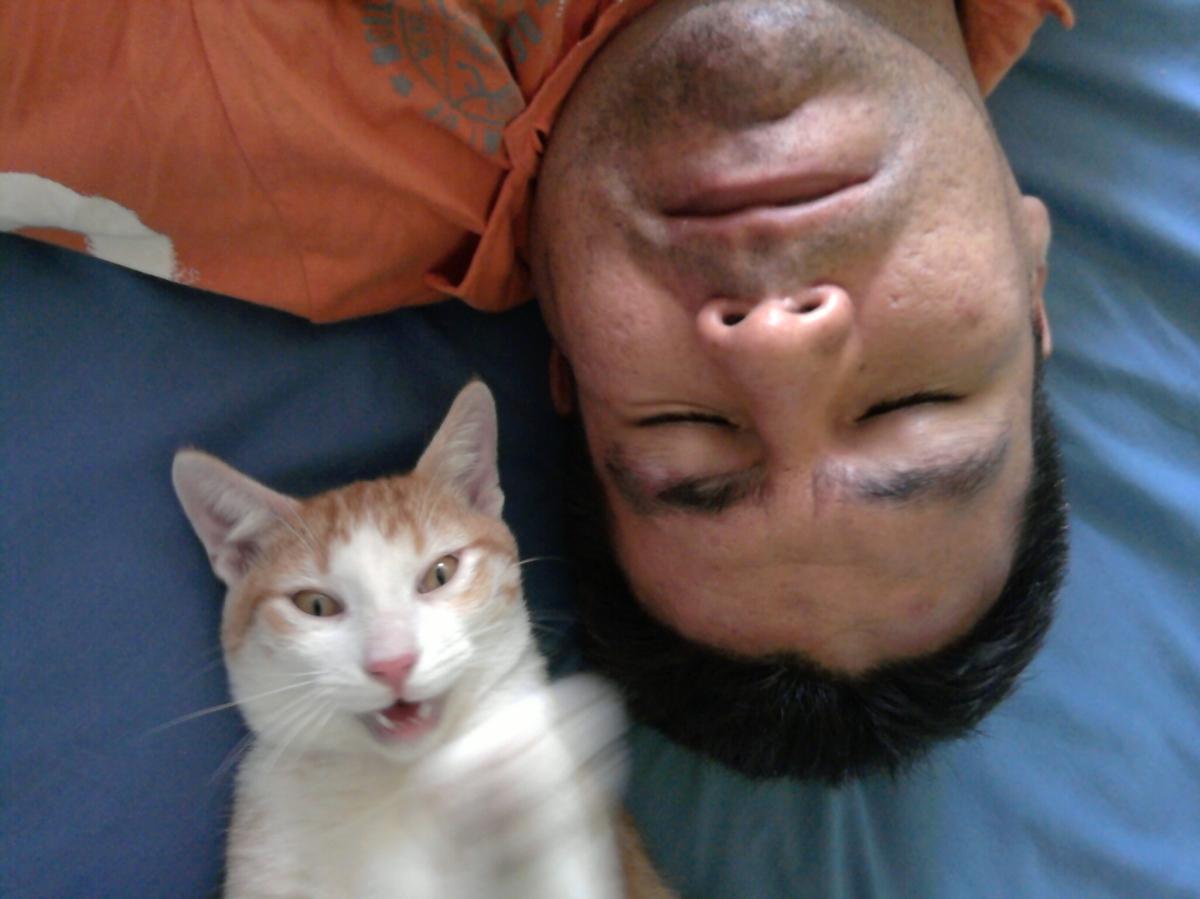 Selfie con mi humano dormido