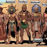 Gods from many cultures drew as Comic book Superheroes