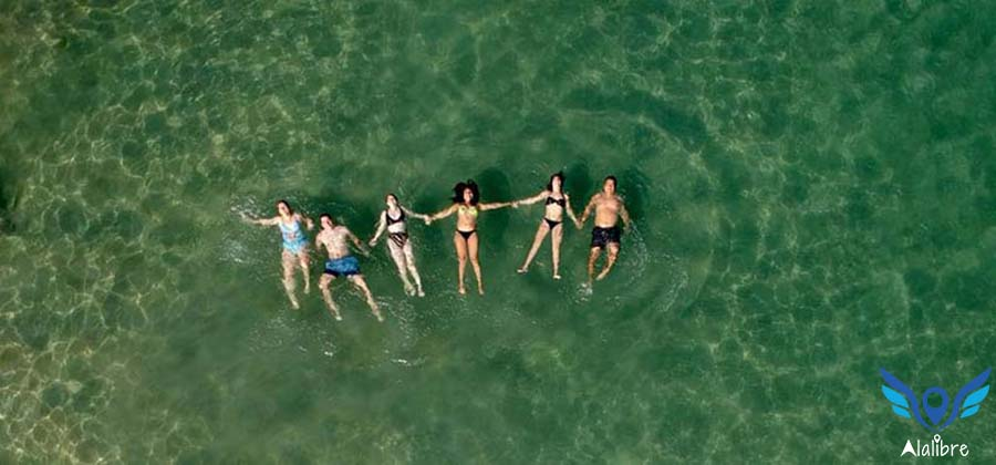 Fanny, Deisy, Arely, some other friends and me at Playa Toro.