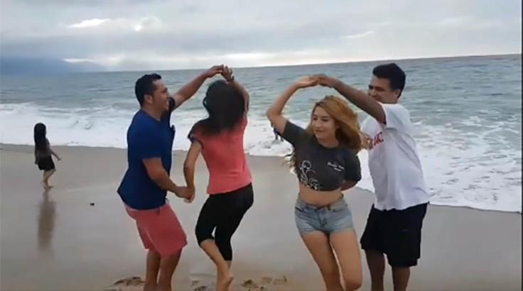 Dancing at the Beach